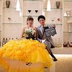 ベルクラシック富山迎賓館:富山空港近くの郊外にある、貸切ゲストハウスでの挙式&二次会。ゲストにもふたりにも嬉しいプランだった