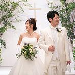 ベルクラシック富山迎賓館:新しくなったチャペルで永遠に続く愛の誓い。演出や椅子の数が選べる会場はゲスト思いのふたりにぴったり