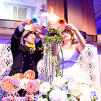 ANAクラウンプラザホテル福岡:和装でブーケ&焼酎プルズ、制服とドレスでキャンドルサービス。衣裳ごとに異なる演出でゲストを楽しませた