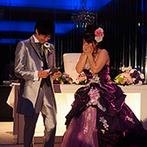 マリエールオークパイン金沢:和装から洋装へ衣裳チェンジして、粋な再入場にゲストから歓声が!新郎からのサプライズレターに新婦は感激