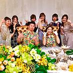 ザ・ロイヤルクラシック姫路:挙式は家族とハワイで、披露宴は友人達と地元で楽しく!ハワイのクリスマスをテーマにした披露宴をイメージ