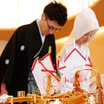 ザ・セレクトンプレミア 神戸三田ホテル:縁結びの神様である出雲大社を祀る本格神殿が館内に。光が差し込むモダンな空間で、無事に儀式を執り行えた