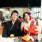 The ORANGER GARDEN ISUZUGAWA (ザ・オランジェガーデン五十鈴川):吹き抜けの開放感あふれる空間で目でも口でも楽しめる美味しいおもてなし。年配ゲストへの心配りもばっちり