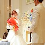 アーヴェリール迎賓館 姫路:映像と現実がリンクしたサプライズプロポーズが大成功!シンデレラ階段を降りる夢のシーンも叶えられた