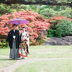 MAIKO HOTEL since1919(舞子ホテル):四季折々の表情を放つ日本庭園が魅力の上質なホテル。スタッフの人柄やアクセスの良さもふたりの心を掴んだ