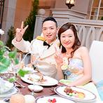ホテルモントレ大阪:いつも手厚くサポートしてくれたスタッフに感謝。友人の誕生日を祝う演出など、笑顔あふれる結婚式に