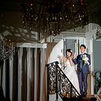 サー ウィンストン ホテル 名古屋 by ストリングス:天井が高い開放感あふれる会場でのパーティ。インナーガーデンに登場したデザートビュッフェに歓声!