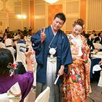 名古屋東急ホテル:開放感溢れるゴージャスな会場で、出来立ての美食に舌鼓。晴れ姿を引き立てる本格機器で華やかなシーンに