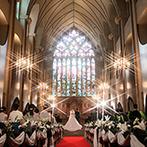 マリエール山手(セント・リージェンツ大聖堂):山手の丘の上に広がる、ウエディングの街の大聖堂にひとめぼれ。ずっと憧れていた聖なる空間で誓うことに