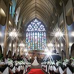 マリエール山手(セント・リージェンツ大聖堂):壮大なスケールの大聖堂、上質な空間とおもてなし、信頼あるスタッフたち…すべてが誇らしいwedding stage
