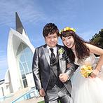 アンジェローブ (Wedding Island Angerobe):ブライダルのプロも魅了した開放的な空間。金城ふ頭駅直結の便利な立地は、県外ゲストのアクセスも安心