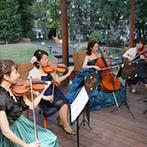 グランシェル岡崎:新婦が友人と奏でた弦楽四重奏の美しいメドレー。友情の証とともに幸せの音色がゲストにも届いた