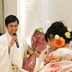 EXEX SQUARE (旧 リュクスガーデン岐阜):シャイな新郎がプロポーズを再現して拍手喝采!ゲストからのサプライズ含め、7本のムービーで大盛り上がり