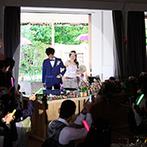 EXEX SQUARE (旧 リュクスガーデン岐阜):ガーデンからの再入場は、ライブ会場のようにドラマチック!美味しい料理やデザートで心づくしのおもてなし