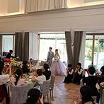 EXEX SQUARE (エグゼクス・スクエア):装花やBGMもばっちり。ふたりの思い描く結婚式が叶ったのは、エキスパートたちの的確なサポートのおかげ