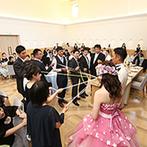 EXEX SQUARE (エグゼクス・スクエア):ドレスの色当てクイズや、豪華な景品「飛騨牛」プルズも。ゲスト参加型の演出でパーティは大盛り上がり