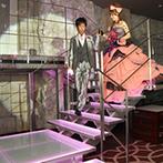 ベルクラシック神戸:理想は「誰も見たことがないような楽しい結婚式」。階段や大きなスクリーンなど会場の設備がふたりを魅了