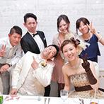 ベルクラシック神戸:目指したのは、ワイワイ楽しめるアットホームなパーティ!だからふたりとゲストの距離が近い会場をセレクト