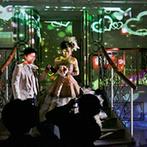 ベルクラシック神戸:魔法のステッキでキャンドル点火!鮮やかな光が模様を描くムービングライトもドラマチックなシーンの演出に