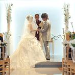 KKRホテル金沢:ふたりをチャペルへと導く、光り輝く「ホワイトロード」。母親からのベールダウンは感動的なシーンに
