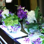 ホテルオークラ神戸:アーティスティックな会場をアジアンリゾートテイストにコーディネート。評判の高い中華料理にゲストも感激
