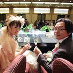 ホテルオークラ神戸:一つひとつ思いを込めて組み立てたオリジナルの進行は、大成功。「爆笑と号泣の大宴会」が繰り広げられた