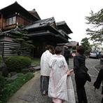 松楓閣:四季折々の美しさを見せる日本庭園や、受け継がれる料亭の味、歴史が匂わせる経験と実績にふたりは惹かれた