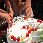 クサツエストピアホテル:ゲストが仕上げた世界にたった一つのウエディングケーキ。友人へのインタビューでは会場に笑顔が溢れた