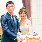 覚王山ル・アンジェ教会:ナチュラルなコーディネートやネイキッドケーキがゲストに好評!京野菜フレンチのおもてなしも喜ばれた