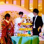ソシミエール津山:新婦から新郎へのサプライズレターで会場は感動に包まれた。バナナの早食いゲームでゲストと大盛り上がり!