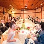 FUNATSURU KYOTO KAMOGAWA RESORT (国登録有形文化財):明治3年創業の老舗旅館が、モダンなウエディングステージに。身近な人たちへの感謝を、心づくしの料理で