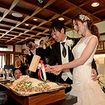 FUNATSURU KYOTO (国登録有形文化財):上質ナチュラルな空間で、美食のおもてなし。鯛の塩釜開き&おにぎりのファーストバイトにゲストも大興奮!