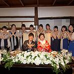 FUNATSURU KYOTO (国登録有形文化財):アンケート形式の果実酒作りは、会場が一体になって盛り上がった。ゲストとふれ合い心温まる披露宴に