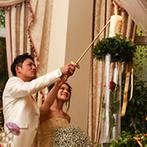 Wedding World ARCADIA SAGA(ウェディングワールド・アルカディア佐賀):新婦のイメージにぴったりのパーティ空間「オルセー・ハウス」に心を奪われた。シェフ渾身の美食も決め手