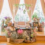 Wedding World ARCADIA SAGA(ウェディングワールド・アルカディア佐賀):テーマを決めたこだわりの会場コーディネートはゲストの間で話題に。装飾のリハーサルも行いイメージ以上!