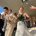 リアン トゥール:両親の愛情を感じながら歩んだバージンロード。祝福のコンフェッティシャワーやバルーンリリースも満喫!