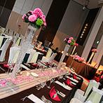 ヒルトン大阪:ゲストに寛いでもらうことを一番に考えた空間づくりや美食のおもてなし。ふたりの想いが行き届いた披露宴に