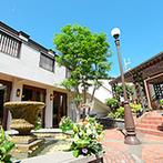 クオーリ クオーリ:県内にいくつもの系列会場を持つ、アットホームな貸切邸宅。青空と緑が囲む愛らしいガーデンにも魅了された