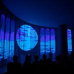琵琶湖ホテル:3Dプロジェクションマッピングと湖の絶景が見事に融合!新感覚の挙式スタイルでゲストの心に残る誓いに