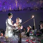 琵琶湖ホテル:レイクビューの待合ロビーや、シャンデリアが彩るラグジュアリーな空間を楽しむ、リゾート気分のパーティ