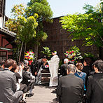 KAWACHIYA:老舗料亭をルーツにした和モダンの貸切邸宅。おもてなし重視派のふたりも納得の、おいしい料理が決め手に