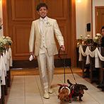 ブライダルヴィレッジ ティンカーベル:キュートなゲストハウスで、愛犬と一緒の挙式を思い描けた。スタッフの親身な対応や美味しい料理も決め手に