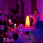 アイランドヒルズ迎賓館:幻想的な輝きでゲストを包み込むイルミネーションタワー!料理の美味しさやボリューム、お酒の種類にも満足
