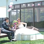 SETRE highland villa(セトレ ハイランドヴィラ):サングラスをかけて登場シーンも華やかに!デザートビュッフェを堪能した後は感謝を込めて父へのサプライズ