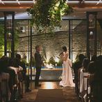 オリエンタルホテル 神戸・旧居留地:フロア貸切でふたりだけの誓いの空間に。光がウォーターテラスを彩るロマンチックなナイトウエディング