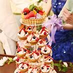 MAXI MANIS(マキシマニス):ケーキや装飾に好きなものを取り入れたふたりらしいパーティ。二次会も同じ会場で心ゆくまで楽しんだ