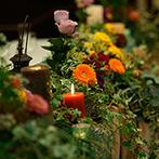 スイート ヴィラ シーンズ:悩みに悩んだ装花やコーディネートも丁寧にアドバイス。ヘアアレンジもこだわりが叶えられて大満足