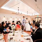 赤坂ル・アンジェ教会:久々に集う親族同士が会話し、両家の親睦を深めるひと時。少人数ならではのアットホームなパーティが実現