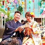 ララシャンス ベルアミー:テーマは「新・和モダン オリエンタルリゾート」。フォトジェニックな会場コーディネートがゲストに大好評