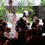 The Palm Garden(ザ・パームガーデン):リゾート感溢れるガーデン付きのパーティ会場に魅了。スタッフのしっかりとしたサポートも決め手